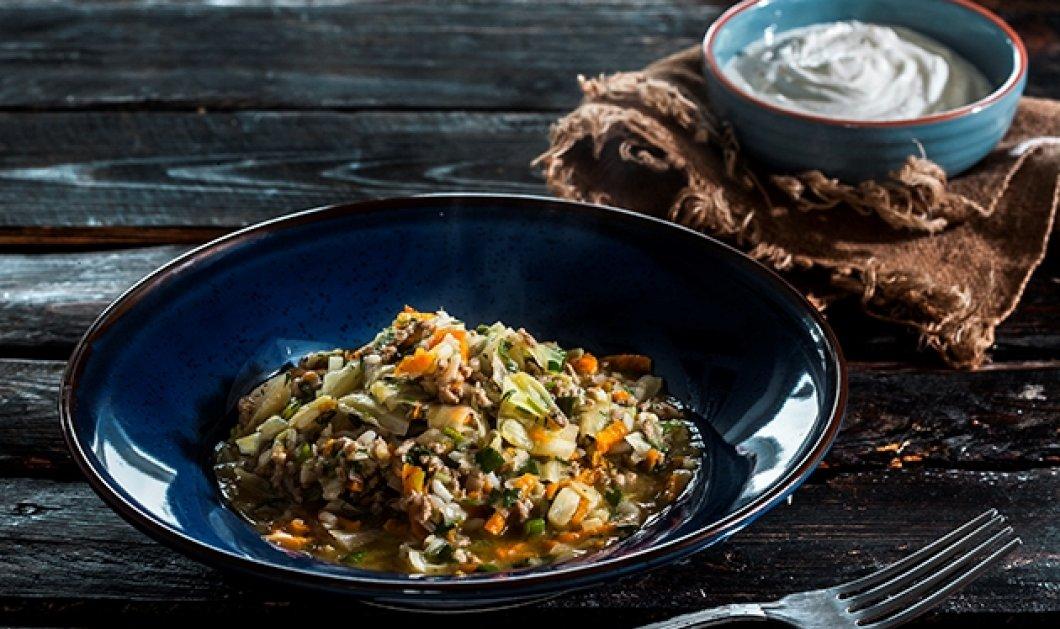 Η φανταστική Αργυρώ Μπαρμπαρίγου δημιουργεί; Λεμονάτο λαχανόρυζο με κιμά και πράσο   - Κυρίως Φωτογραφία - Gallery - Video