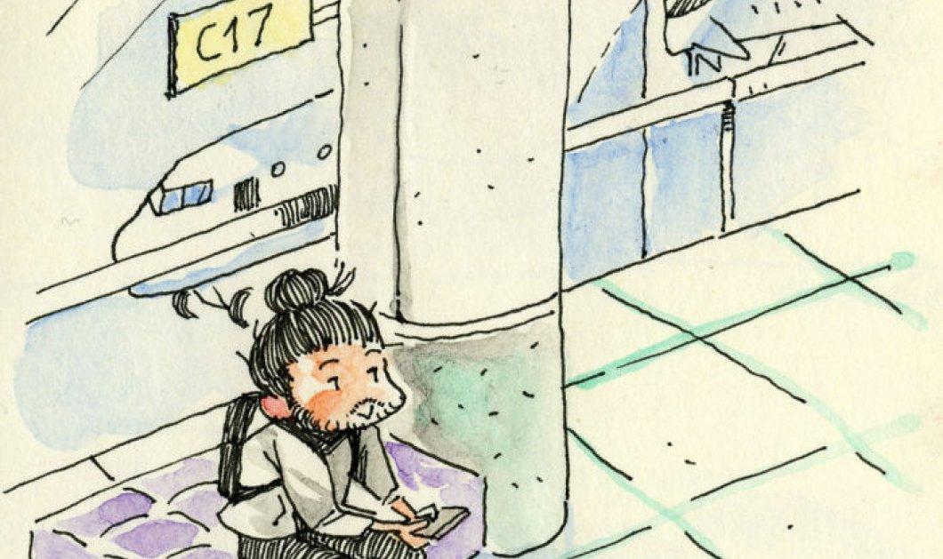 Μία λέξη καταπληκτικό- Ο τύπος ταξιδεύει στο Τορόντο για το κορίτσι του και καταγράφει τη συνάντηση σε σκίτσα  - Κυρίως Φωτογραφία - Gallery - Video