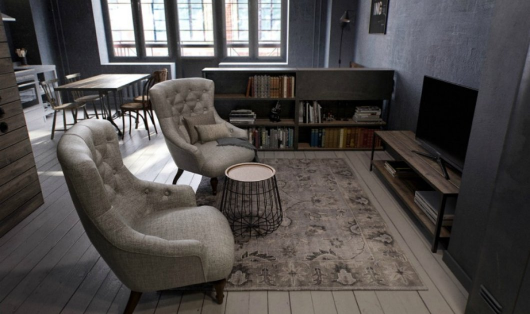 Ορίστε ένα διαμέρισμα 40 τμ διακοσμημένο με γούστο που θα σας δώσει απίστευτες ιδέες για το δικό σας!  - Κυρίως Φωτογραφία - Gallery - Video