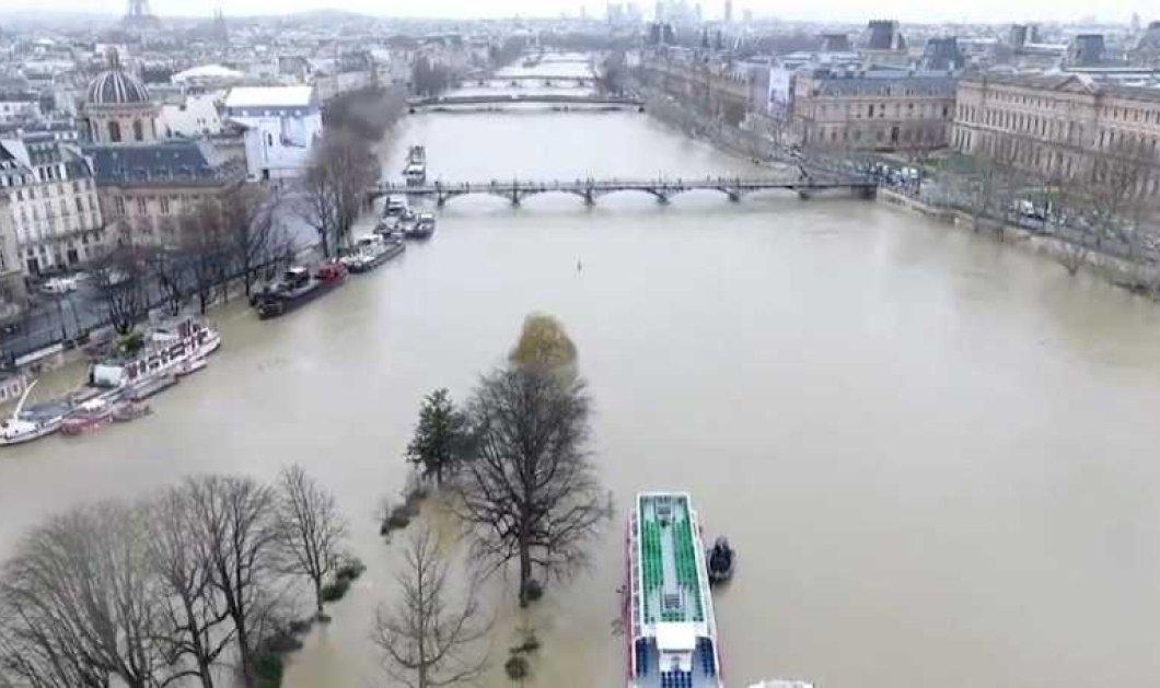Εντυπωσιακό βίντεο με drone: Ο Σηκουάνας φούσκωσε πλημμύρισε & το Παρίσι φοβάται  - Κυρίως Φωτογραφία - Gallery - Video
