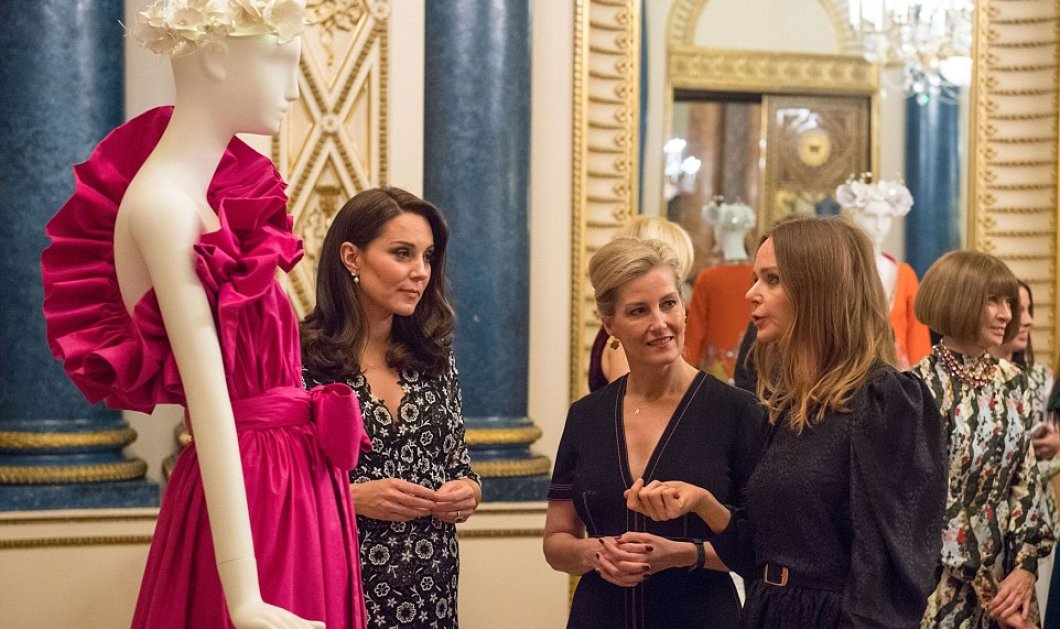 Η Κέιτ Μίντλετον & η Κόμισσα του Ουέσσεξ Σοφία παρουσίασαν έκθεση μόδας - Ναόμι Κάμπελ, Στέλα Μακάρτνεϊ & Άννα Γουίντουρ μαζί τους!  - Κυρίως Φωτογραφία - Gallery - Video