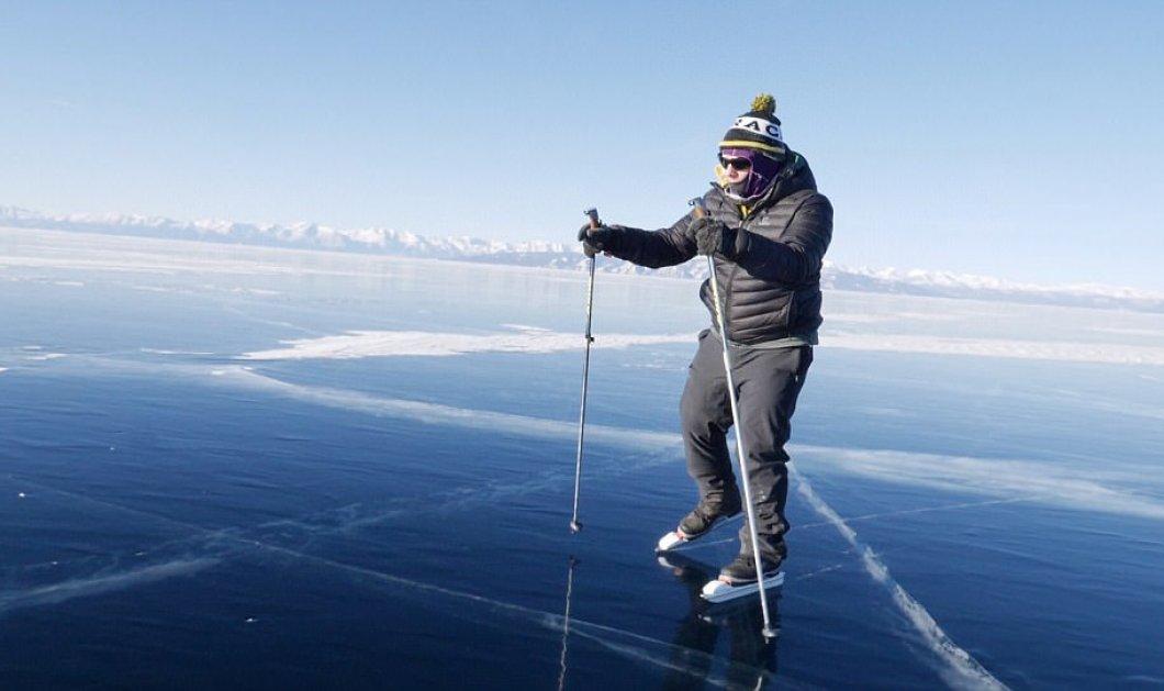 Βρετανός έγινε ο πρώτος άνθρωπος που διέσχισε παγωμένη λίμνη καλύπτοντας απόσταση 136χλμ (ΦΩΤΟ - ΒΙΝΤΕΟ)  - Κυρίως Φωτογραφία - Gallery - Video