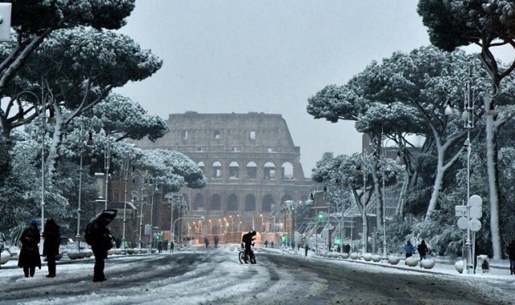 Εκπληκτικές φωτογραφίες με την Ρώμη ντυμένη στα λευκά! Σπάνιο φαινόμενο... (ΒΙΝΤΕΟ)   - Κυρίως Φωτογραφία - Gallery - Video