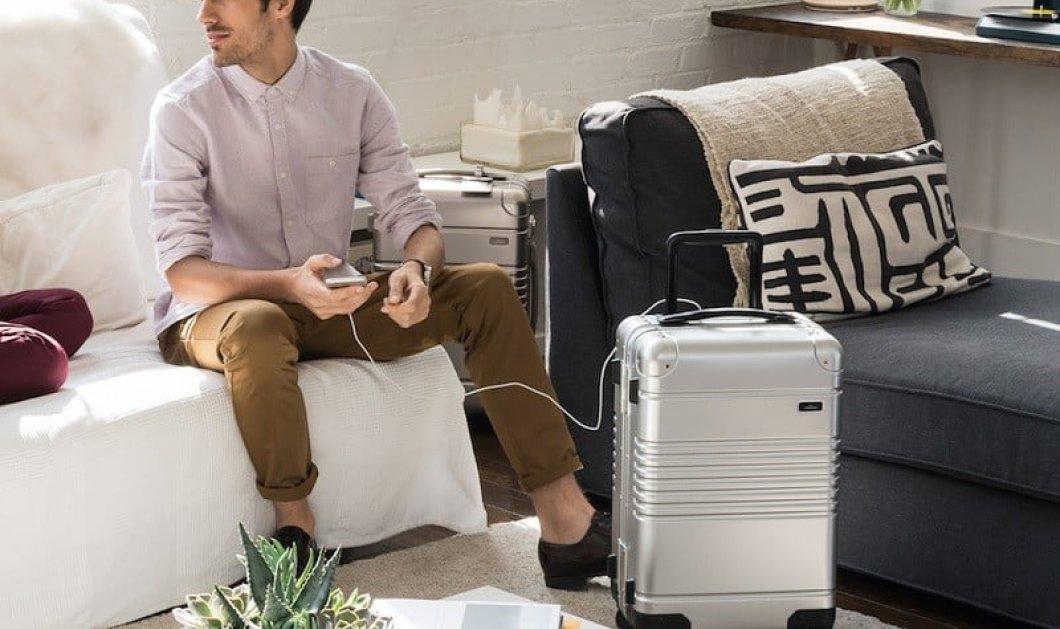 Η βαλίτσα χωρίς φερμουάρ που σαρώνει τα διεθνή βραβεία! Έχει ενσωματωμένη μπαταρία για τη φόρτιση του κινητού (ΦΩΤΟ - ΒΙΝΤΕΟ)   - Κυρίως Φωτογραφία - Gallery - Video