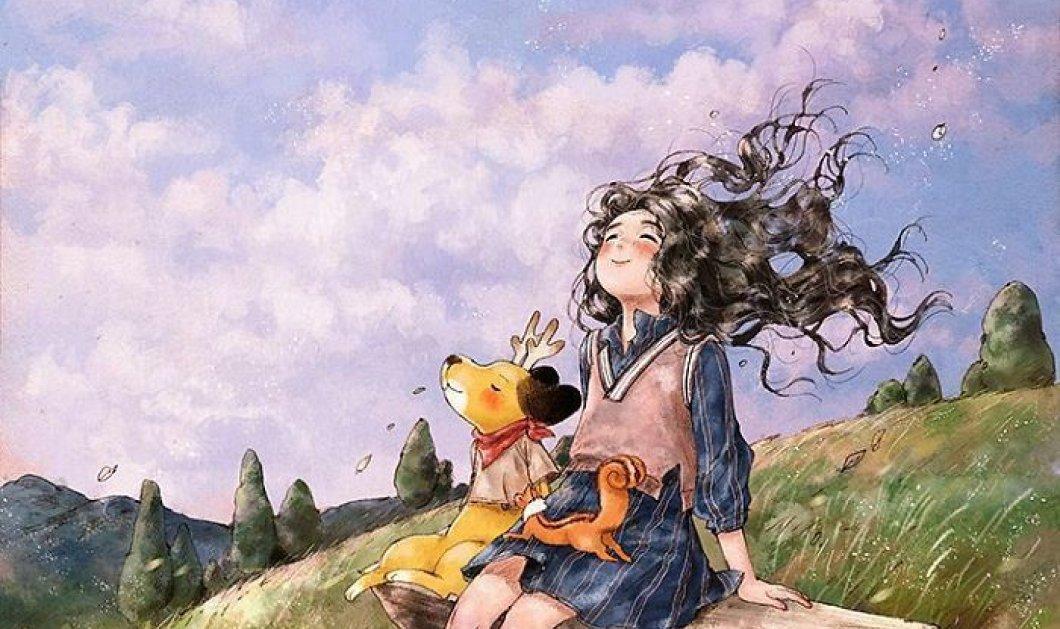 Ποιος είπε ότι το να ζεις μόνος δεν είναι ευτυχία; 20 εικόνες - εξαίσια σκίτσα από Κορεάτισσα καλλιτέχνιδα - Κυρίως Φωτογραφία - Gallery - Video