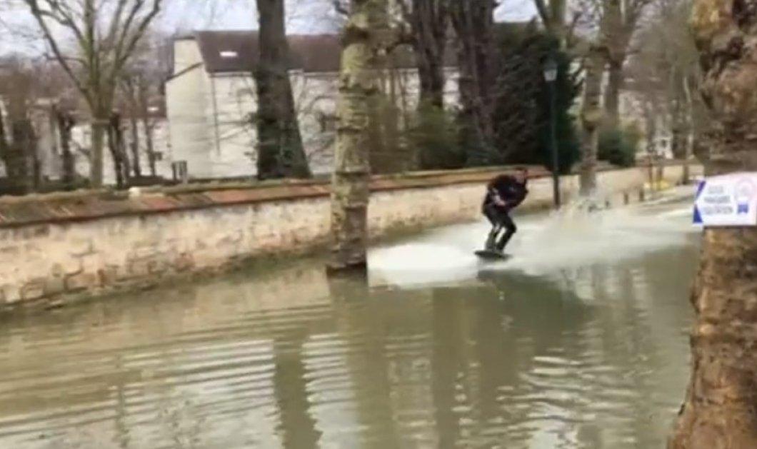 Βίντεο: Όταν το Παρίσι από Πόλη του φωτός έγινε του νερού! Ακόμη και θαλάσσιο σκι στους πλημμυρισμένους δρόμους λόγω Σηκουάνα   - Κυρίως Φωτογραφία - Gallery - Video