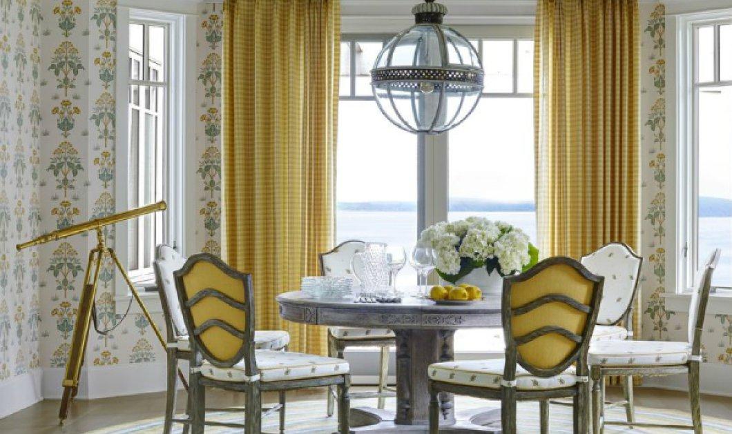 Πως τα ακαταμάχητα μπλε & τα φωτεινά κίτρινα κάνουν ξεχωριστό αυτό το Αμερικάνικο σπίτι για καλοκαιρινές διακοπές (ΦΩΤΟ) - Κυρίως Φωτογραφία - Gallery - Video