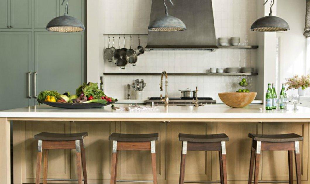 Η κουζίνα του μήνα! Έντονα μπλε, πράσινο & πέτρινες επιφάνειες για μια ονειρεμένη ατμόσφαιρα (ΦΩΤΟ) - Κυρίως Φωτογραφία - Gallery - Video