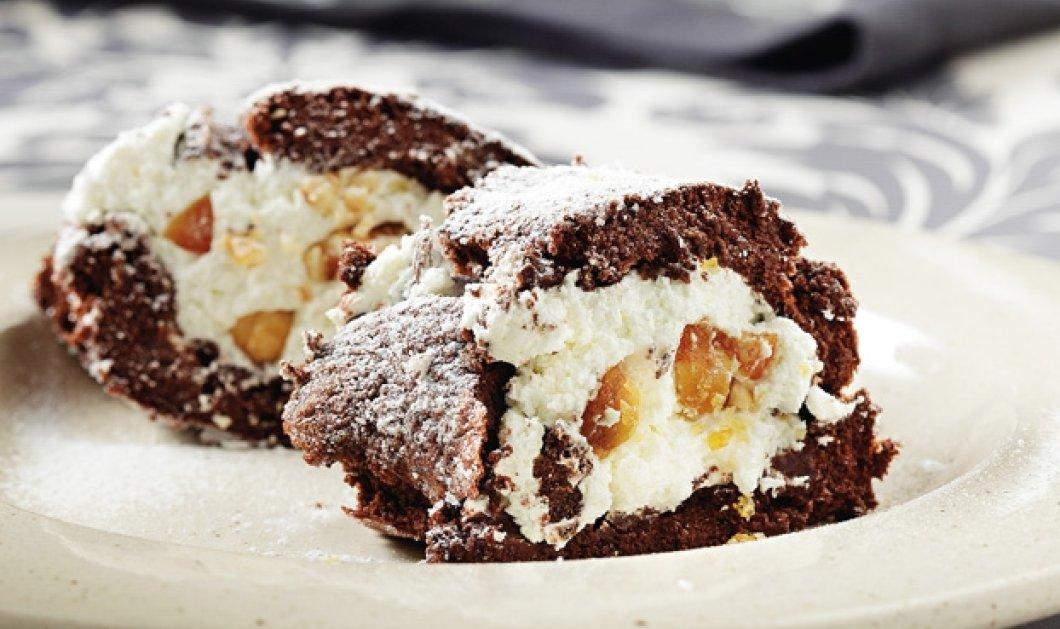 Υπέροχος κορμός σοκολάτας με καραμελωμένα αμύγδαλα από την Αργυρώ Μπαρμπαρίγου!  - Κυρίως Φωτογραφία - Gallery - Video