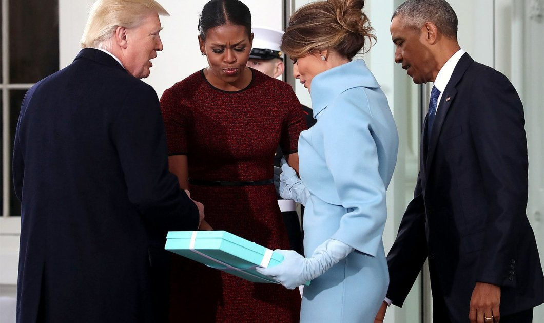 Έλα ντε... να τι είχε μέσα το κουτί από το Tiffany's που πρόσφερε η Μελάνια στην Μισέλ Ομπάμα -Βίντεο  - Κυρίως Φωτογραφία - Gallery - Video