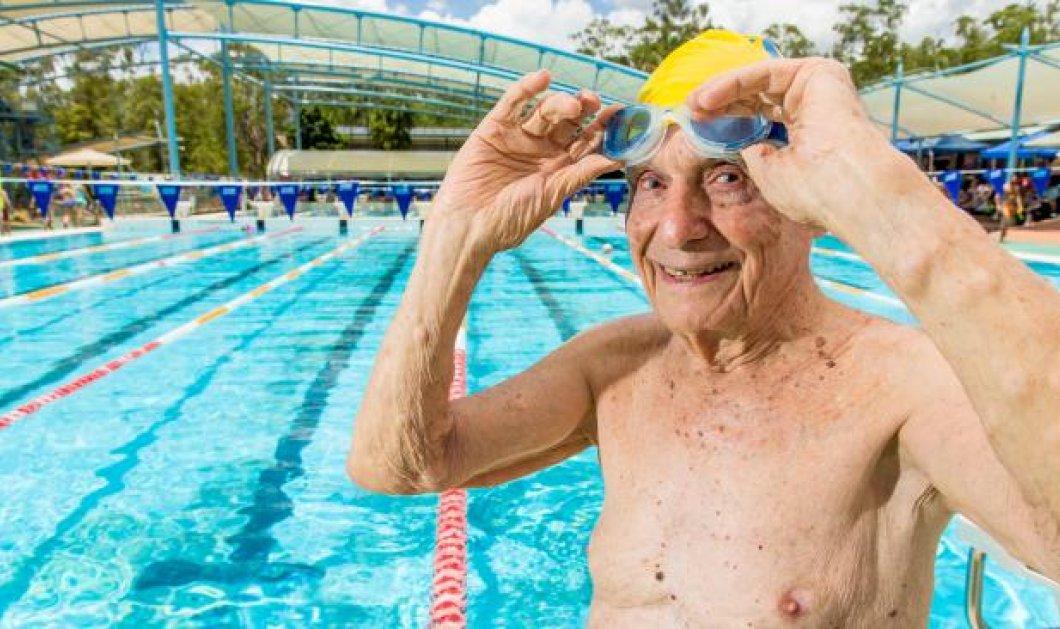 Ο άνδρας της ημέρας! 99 χρονών κολυμβητής κατέρριψε Παγκόσμιο ρεκόρ στα 50μ. ελεύθερο!  - Κυρίως Φωτογραφία - Gallery - Video