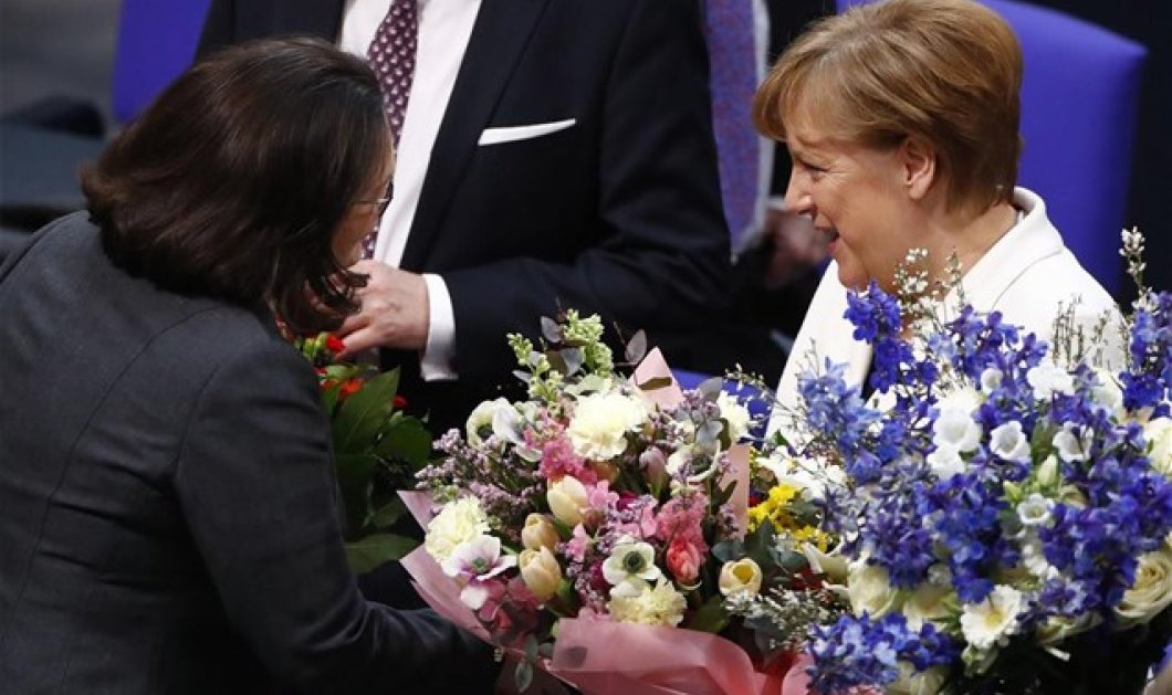 Γερμανία: Επανεξελέγη Καγκελάριος για 4η φορά η Άγγελα Μέρκελ με 364 ψήφους   - Κυρίως Φωτογραφία - Gallery - Video