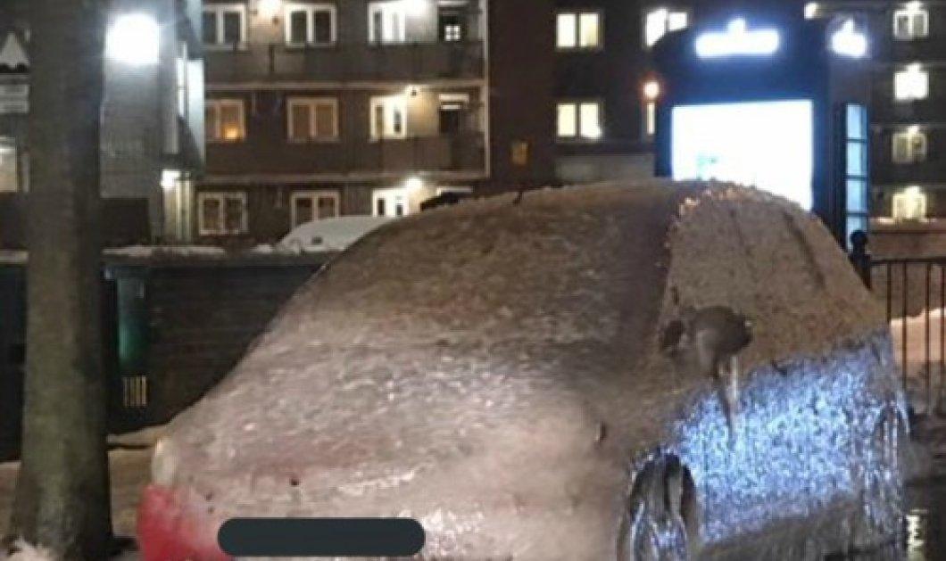Απίστευτο! Σε γλυπτό από πάγο μετατράπηκε αυτοκίνητο στο Λονδίνο από το ψύχος (ΦΩΤΟ)  - Κυρίως Φωτογραφία - Gallery - Video