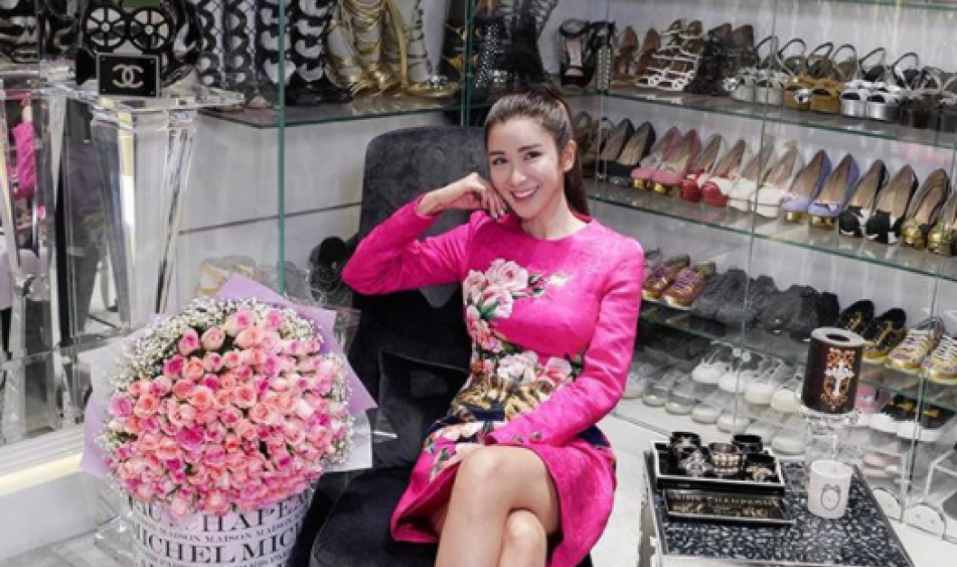 Η πλούσια κοπελιά από την Σιγκαπούρη μας δείχνει το πιο τρελό 700 m² δωμάτιο της για πανάκριβα ρούχα, παπούτσια, 300 Hermes τσάντες - Κυρίως Φωτογραφία - Gallery - Video