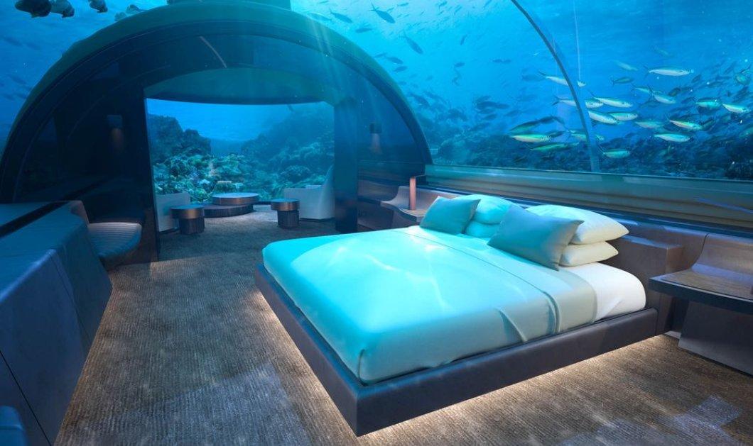 Ξενοδοχείο ανοίγει την πρώτη υποβρύχια βίλα 5 αστέρων: Επισκέπτες θα απολαμβάνουν τη θέα του Ινδικού Ωκεανού (ΦΩΤΟ - ΒΙΝΤΕΟ)  - Κυρίως Φωτογραφία - Gallery - Video