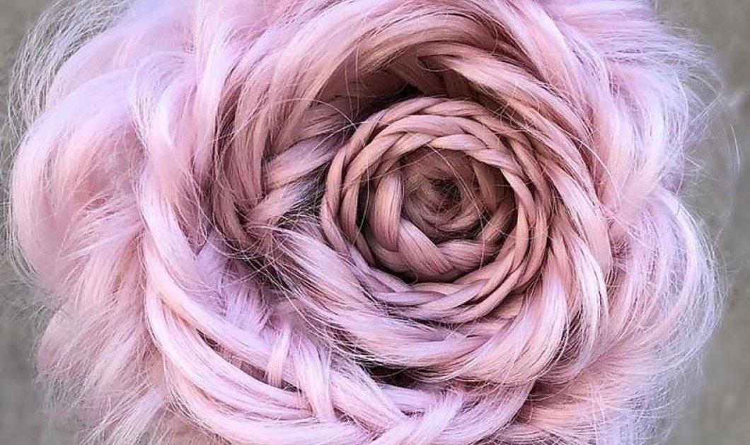 Αυτά τα υπέροχα λουλούδια είναι... μαλλιά - Περίτεχνα χτενισμένα και με περίεργα χρώματα βαμμένα (ΦΩΤΟ)   - Κυρίως Φωτογραφία - Gallery - Video