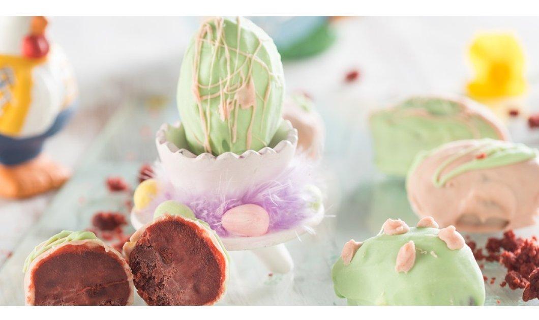 Θέλετε ένα ξεχωριστό γλυκό για το πασχαλινό τραπέζι; Η Ντίνα Νικολάου σας προτείνει αυγά πασχαλινά με γέμιση red velvet cake! - Κυρίως Φωτογραφία - Gallery - Video