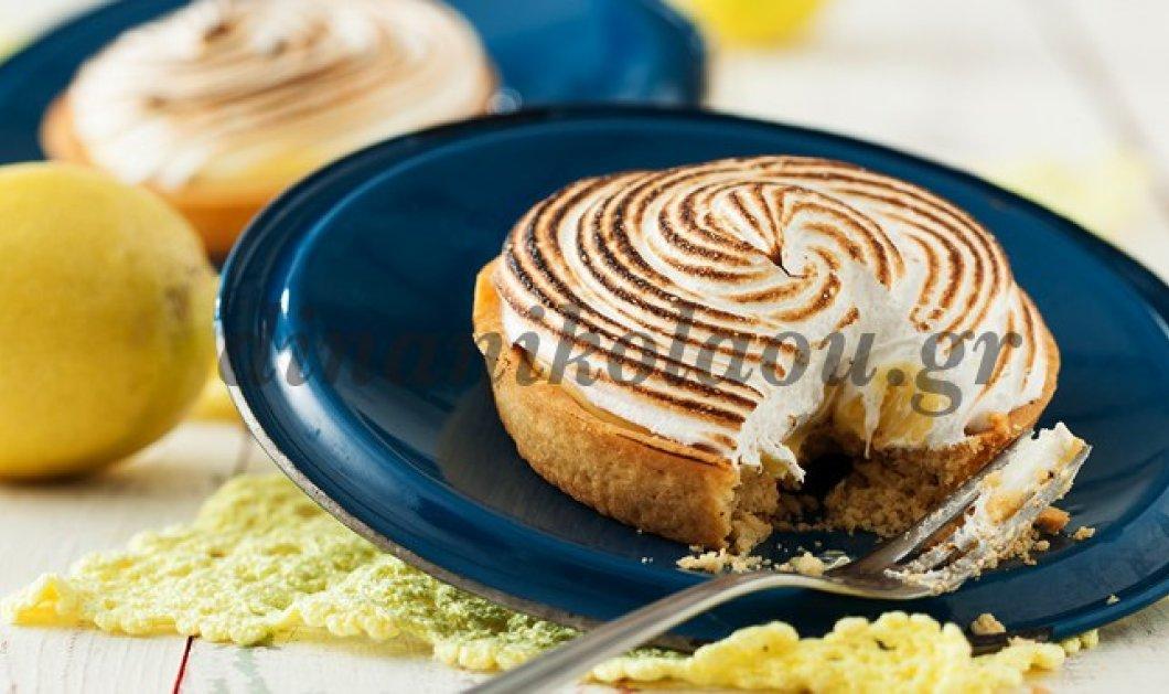 Λαχταριστή τάρτα lemon pie από την Ντίνα Νικολάου - Κυρίως Φωτογραφία - Gallery - Video