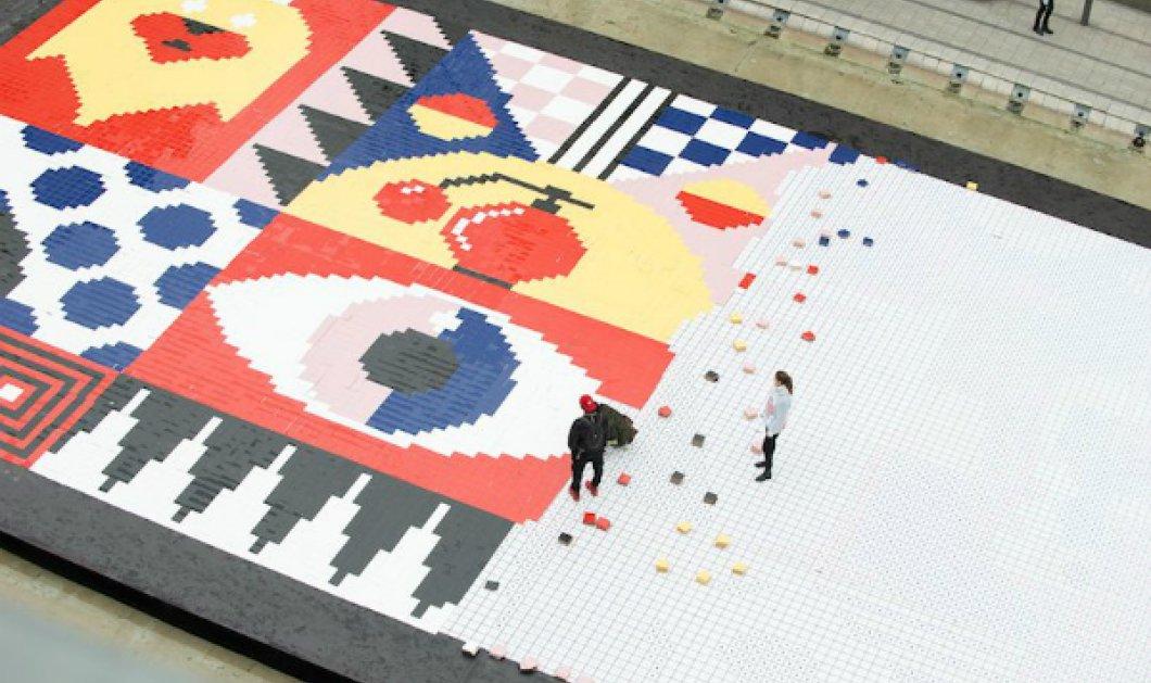 Briliant idea! Μια υπέροχη street art τοιχογραφία στολίζει τον πεζόδρομο της Λιόν (ΦΩΤΟ - ΒΙΝΤΕΟ) - Κυρίως Φωτογραφία - Gallery - Video