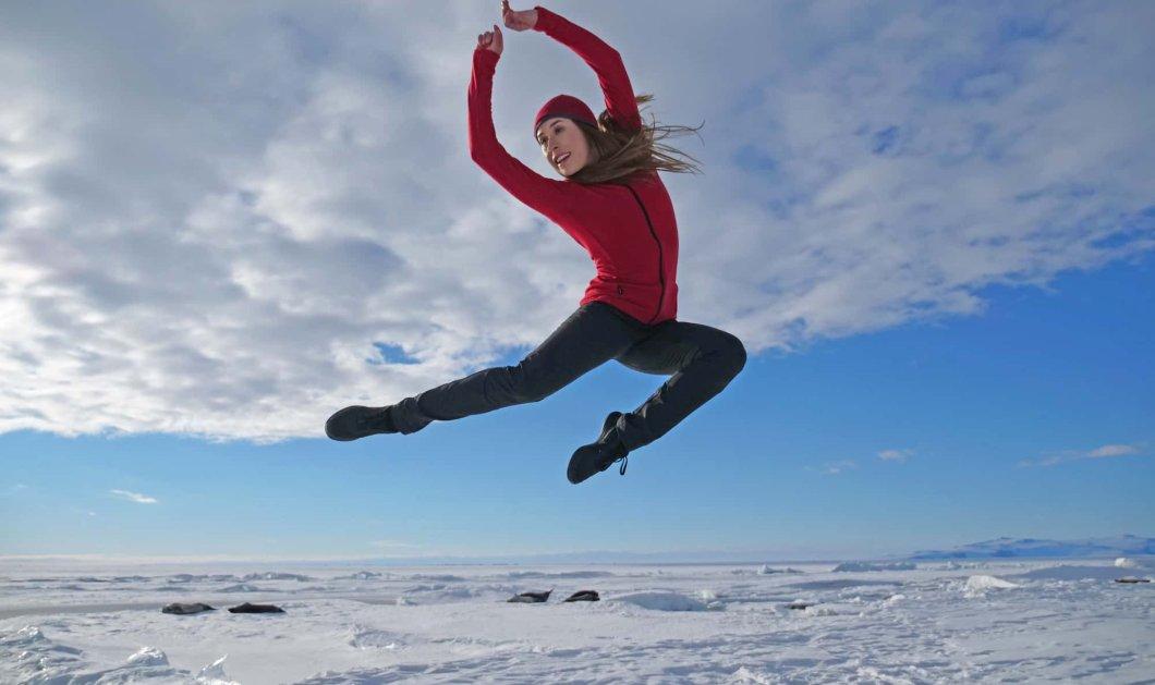 Δείτε οπωσδήποτε κάτι μοναδικό: Υπέροχη χορεύτρια στην Ανταρκτική- Ένα βίντεο εκπληκτικό - Κυρίως Φωτογραφία - Gallery - Video