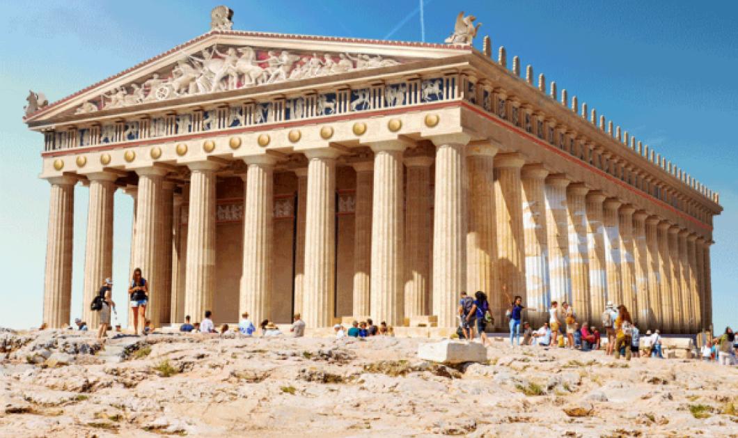 Και αν 7 κορυφαία μνημεία γυρνούσαν στην ένδοξη τους εποχή; Ο Παρθενώνας του τότε με τουρίστες του σήμερα... (ΦΩΤΟ) - Κυρίως Φωτογραφία - Gallery - Video