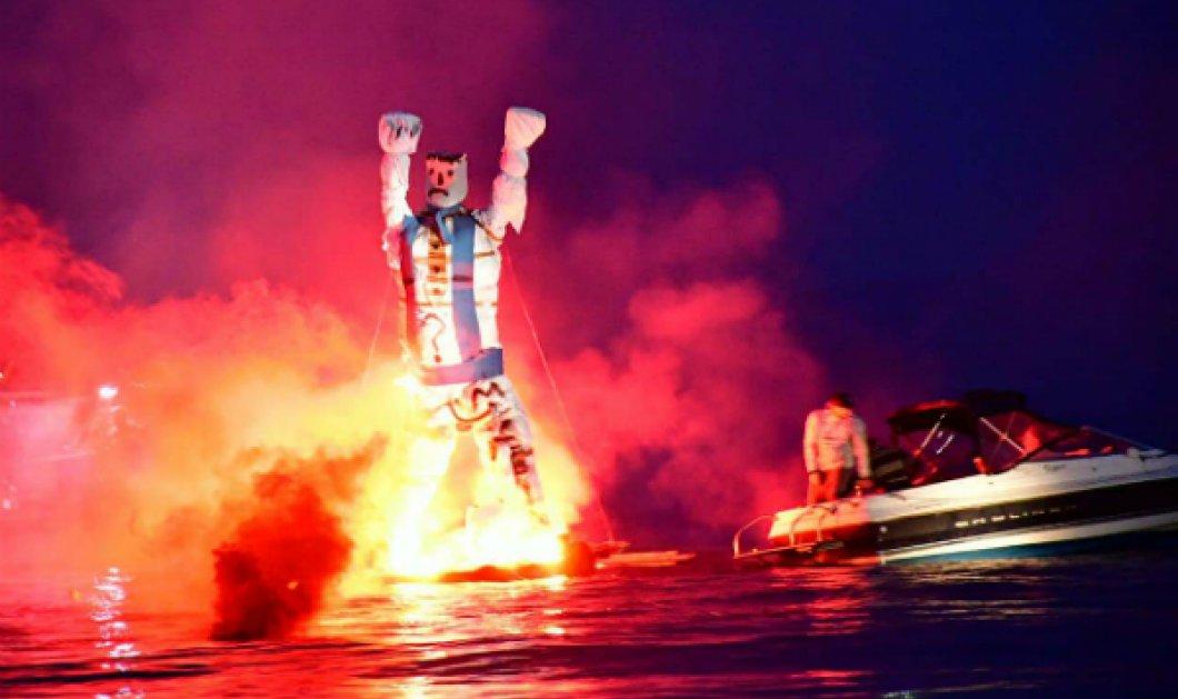 Βίντεο από το Τολό Αργολίδας: Αναβίωσε το παλαιό έθιμο - Έκαψαν τον Ιούδα μέσα στη θάλασσα! - Κυρίως Φωτογραφία - Gallery - Video