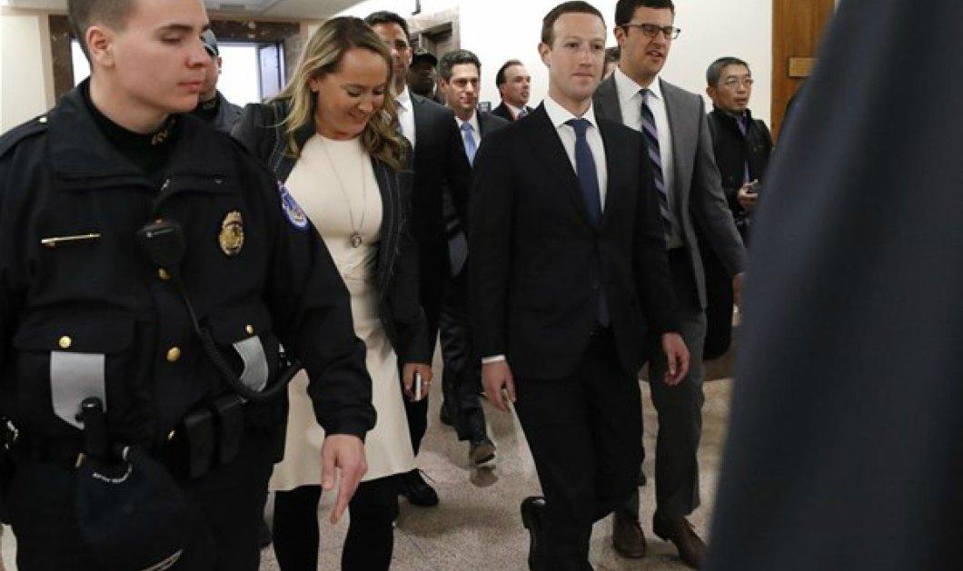 Μαρκ Ζάκερμπεργκ πρώτη φορά με κουστούμι, σύζυγο, μπράβους: Υπερασπίστηκε το Facebook συνοδεία δεκάδων δημοσιογράφων (ΦΩΤΟ) - Κυρίως Φωτογραφία - Gallery - Video