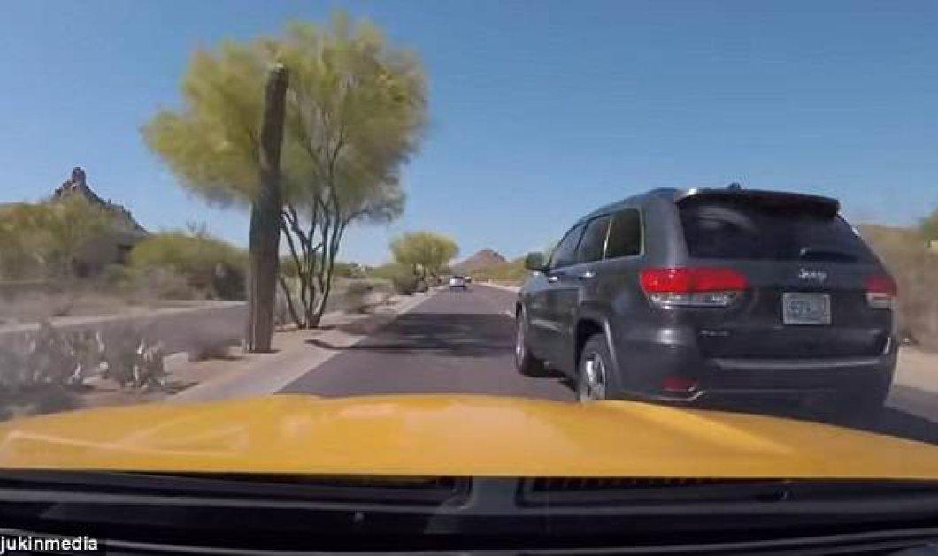 Οδηγός τζίπ προσπέρασε ασημί αμάξι με πολύ μεγάλη ταχύτητα - Δείτε τι έγινε (ΒΙΝΤΕΟ)  - Κυρίως Φωτογραφία - Gallery - Video