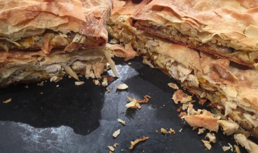 Πεντανόστιμη! Κοτόπιτα παραδοσιακή από την μοναδική Αργυρώ Μπαρμπαρίγου - Κυρίως Φωτογραφία - Gallery - Video