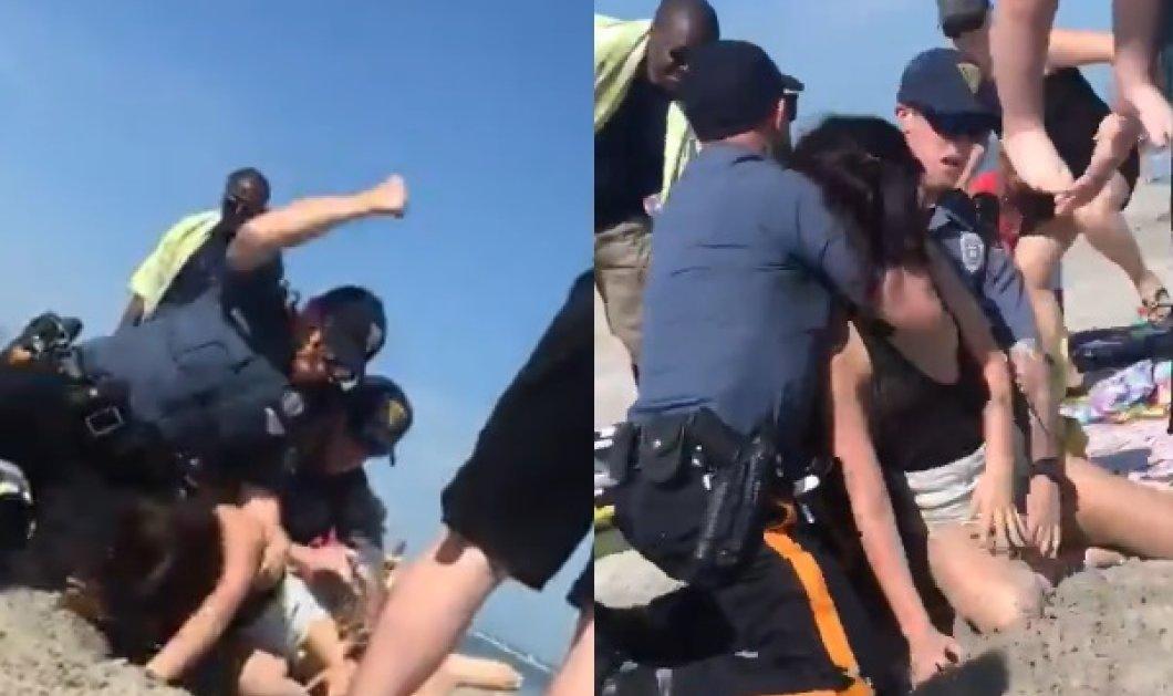 Απίστευτο περιστατικό στις ΗΠΑ! Αστυνομικοί χτυπούν βάναυσα με μπουνιές στο κεφάλι νεαρή μητέρα στην παραλία (ΒΙΝΤΕΟ)  - Κυρίως Φωτογραφία - Gallery - Video