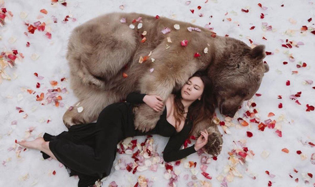 """Απίστευτα πορτραίτα γυναικών που """"κόβουν την ανάσα"""" από την Olga Barantseva: Λήψεις μαζί με μια γιγάντια αρκούδα! (ΦΩΤΟ)  - Κυρίως Φωτογραφία - Gallery - Video"""