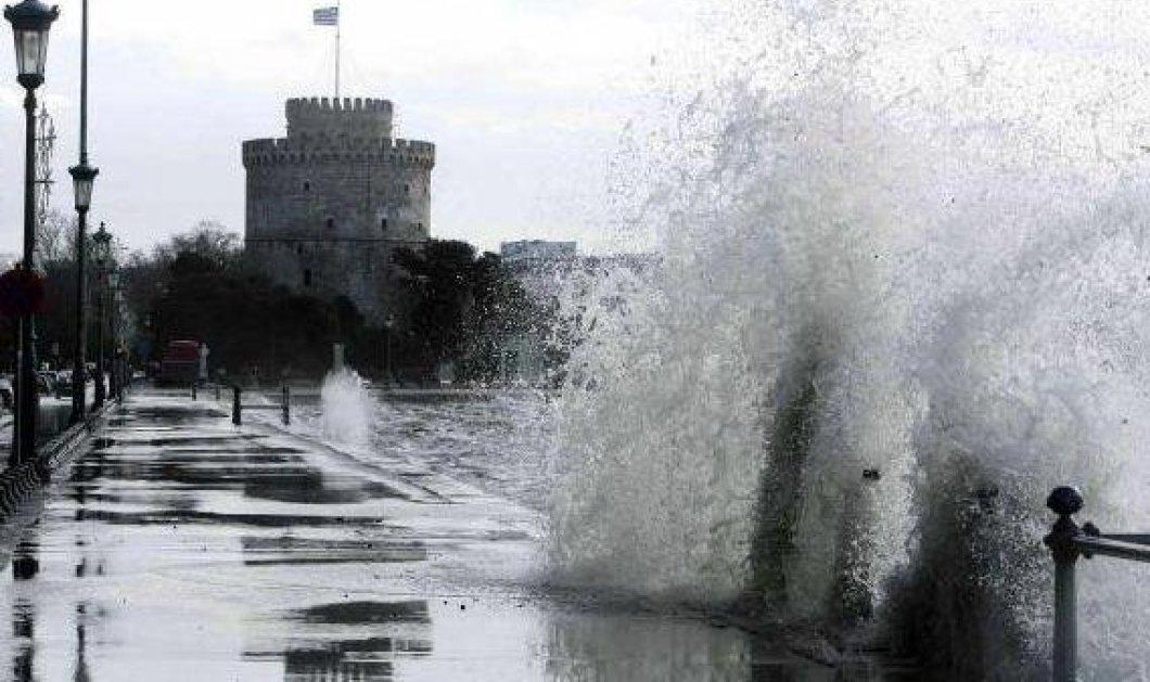 Η επόμενη μέρα της θεομηνίας στη Θεσσαλονίκη- Μετρά πληγές η συμπρωτεύουσα- Κλειστά σχολεία, διακοπές νερού & ρεύματος  - Κυρίως Φωτογραφία - Gallery - Video