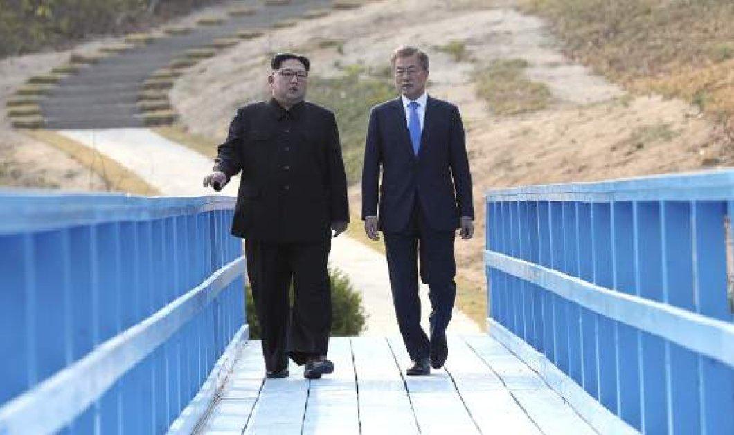 Έκτακτη συνάντηση του Κιμ Γιονγκ Ουν με τον ηγέτη της Νότιας Κορέας- Στόχος η διάσωση της συνόδου με τον Τραμπ (ΦΩΤΟ) - Κυρίως Φωτογραφία - Gallery - Video