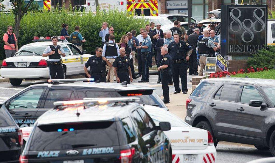 Μακελειό στο Μέριλαντ: Ένοπλος άνοιξε πυρ σε γραφεία εφημερίδας - Στους πέντε ο αριθμός των νεκρών - Άγνωστος αυτός των τραυματιών (Φωτό & Βίντεο) - Κυρίως Φωτογραφία - Gallery - Video