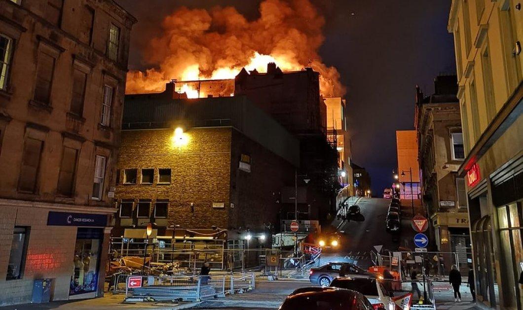 Στις φλόγες η Σχολή Καλών Τεχνών της Γλασκώβης - Κάηκε για δεύτερη φορά σε τέσσερα χρόνια (VIDEO) - Κυρίως Φωτογραφία - Gallery - Video