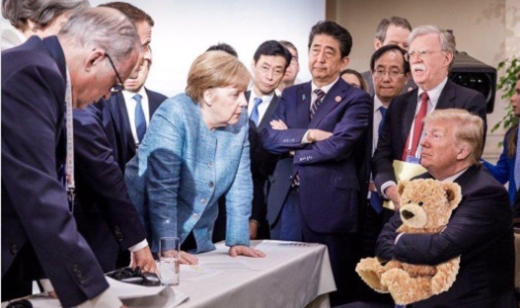 Οι 11 καλύτερες χιουμοριστικές εκδοχές της διαβόητης φωτογραφίας Μέρκελ- Τραμπ - Κυρίως Φωτογραφία - Gallery - Video