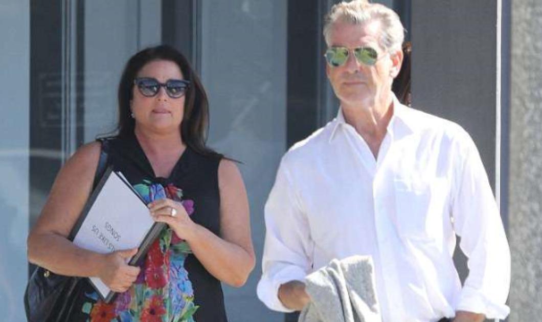 Ο Pierce Brosnan με την σύζυγό του Keely σε κοινή συνάντηση εργασίας στο Λος Άντζελες (ΦΩΤΟ) - Κυρίως Φωτογραφία - Gallery - Video