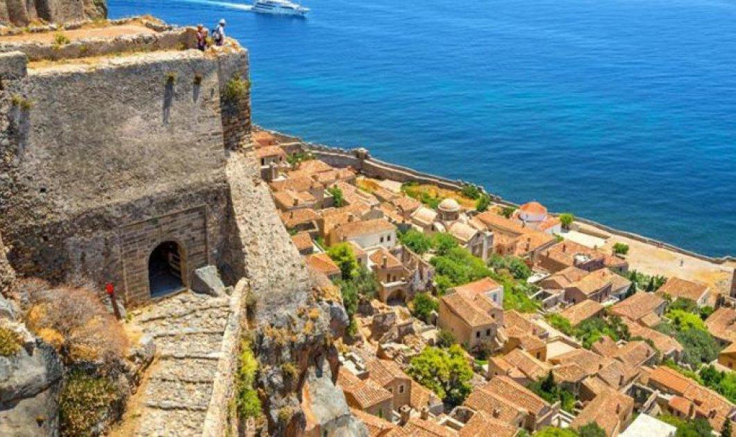 Η θέα του κάστρου της ιστορικής Μονεμβασιάς από ψηλά σου κόβει την ανάσα (VIDEO) - Κυρίως Φωτογραφία - Gallery - Video