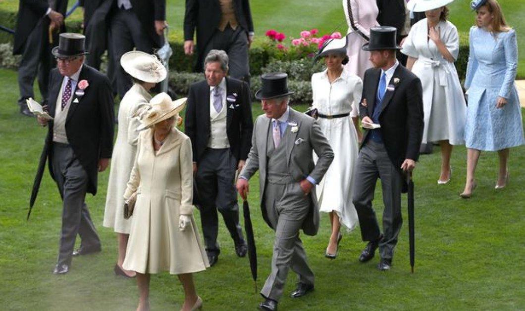 Τα εκκεντρικά καπέλα & οι εξωφρενικές εμφανίσεις των Βρετανίδων κυριών στις περίφημες ιπποδρομίες του Άσκοτ- Η Meghan έλαμψε με Givenchy (ΦΩΤΟ) - Κυρίως Φωτογραφία - Gallery - Video