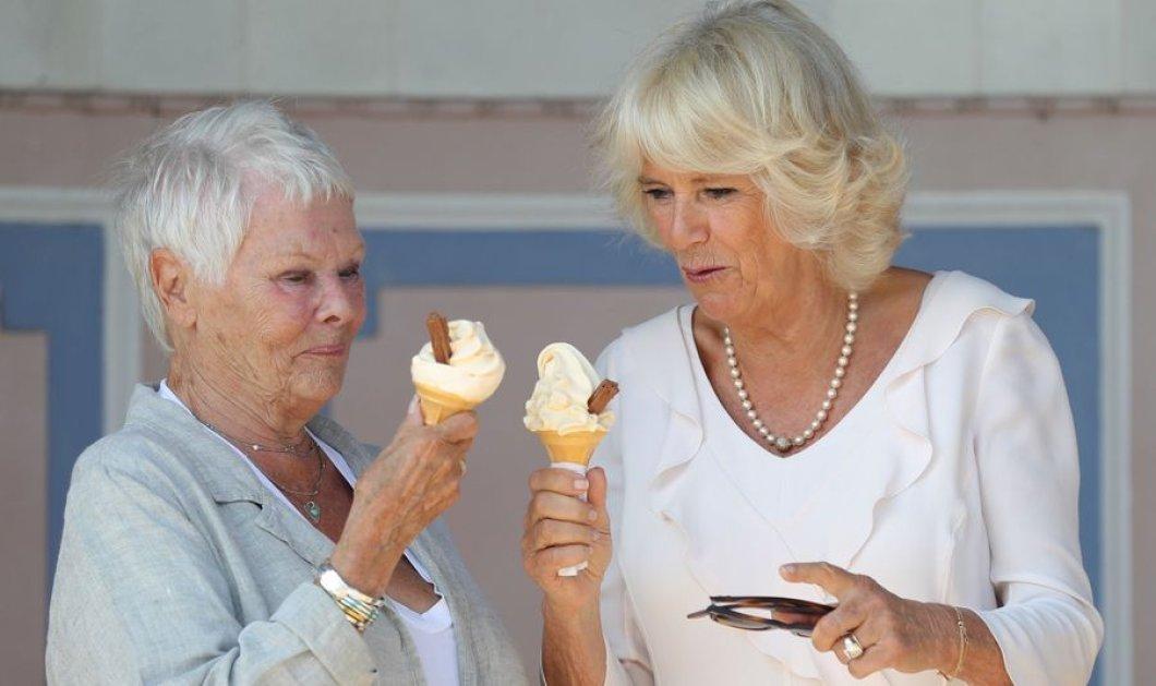 Η Καμίλα & η Τζούντι Ντεντς  τρώνε χωνάκι παγωτό αψηφώντας το πρωτόκολλο (φωτο) - Κυρίως Φωτογραφία - Gallery - Video