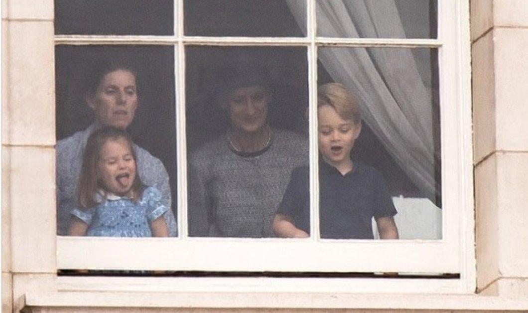 Όταν η πριγκίπισσα Charlotte έβγαλε την γλώσσα στους φωτογράφους! Παιχνίδια & σκέρτσα από τα χαριτωμένα παιδιά του William & της Kate (ΦΩΤΟ) - Κυρίως Φωτογραφία - Gallery - Video