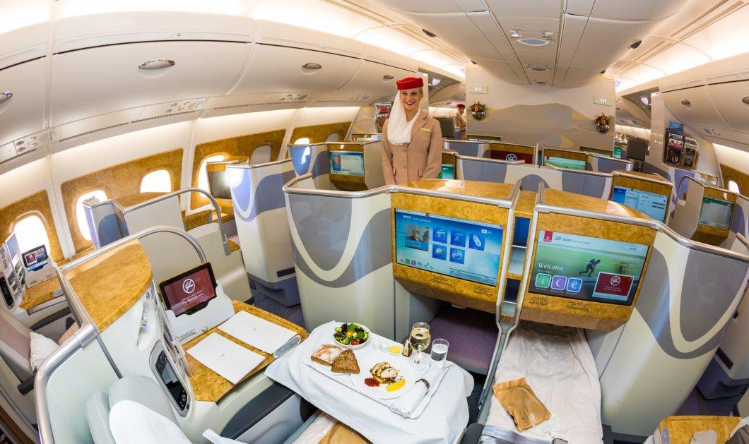 Πως είναι να πετάς με business class σε ένα αεροπλάνο της Emirates; Δείτε πρώτα (Βίντεο) - Κυρίως Φωτογραφία - Gallery - Video