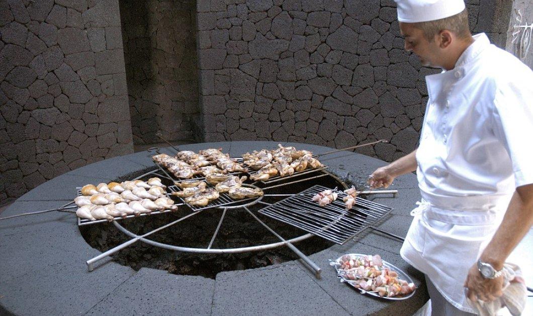 Εστιατόριο στην Ισπανία κάνει μπάρμπεκιου πάνω σε πραγματικό ηφαίστειο - Δείτε φωτό και βίντεο  - Κυρίως Φωτογραφία - Gallery - Video