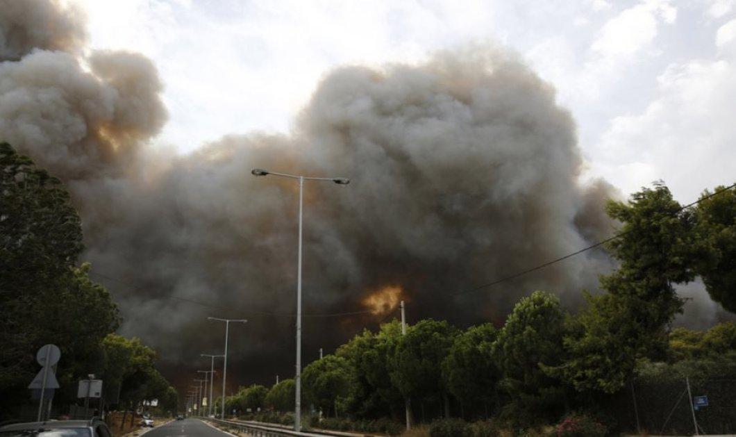 Πυρκαγιές στην Αττική: Διακοπή δρομολογίων ΚΤΕΛ – Προαστιακού – Κυκλοφοριακές ρυθμίσεις - Κυρίως Φωτογραφία - Gallery - Video