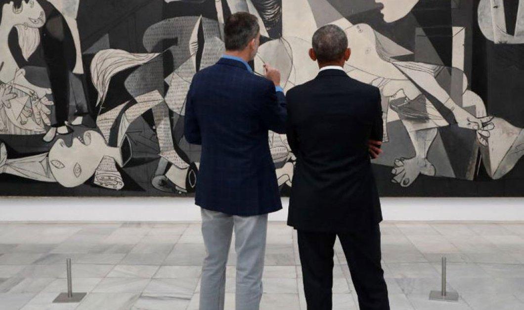Όταν ο  Ομπάμα συνάντησε τον βασιλιά Φίλιππο της Ισπανίας μπροστά στη Γκουέρνικα (φωτο) - Κυρίως Φωτογραφία - Gallery - Video
