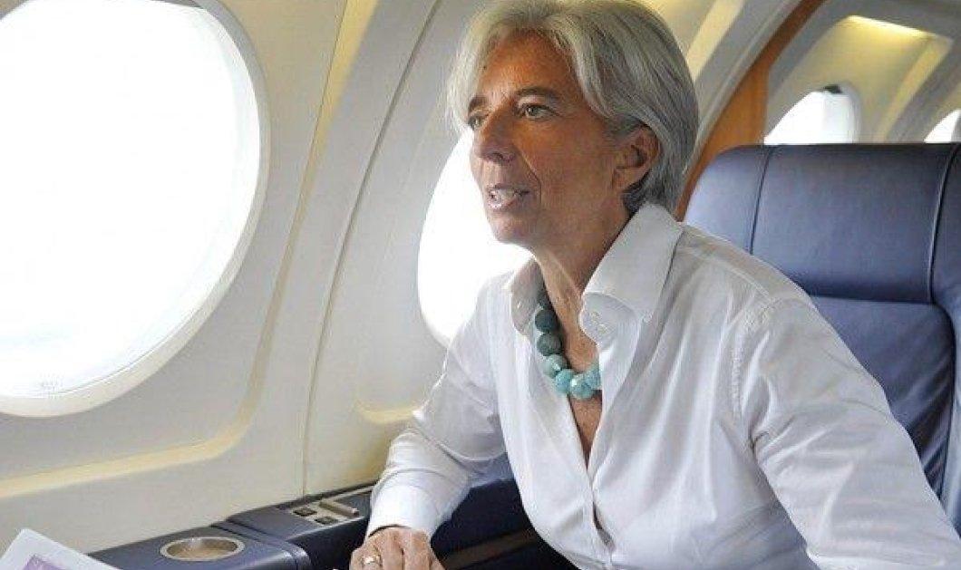 Αναγκαστική προσγείωση και κίνδυνος για την Κριστίν Λαγκάρντ - Μείωση της πίεσης αέρα στο αεροπλάνο της - Κυρίως Φωτογραφία - Gallery - Video