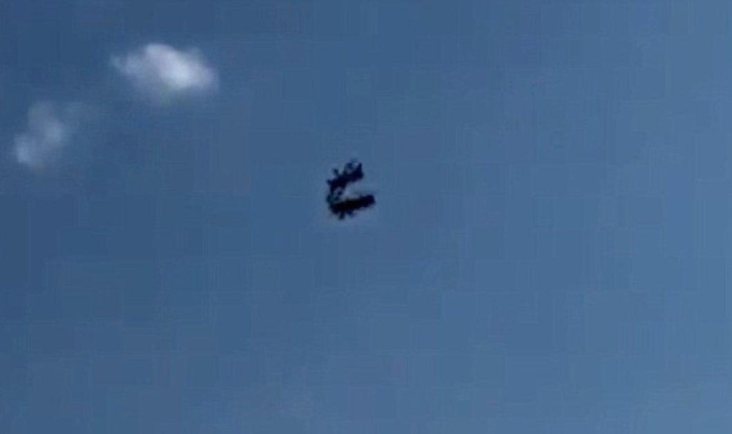 Βίντεo κόβει την ανάσα : δύο αεροσκάφη συγκρούονται στον αέρα - Νεκρός ο ένας πιλότος - Κυρίως Φωτογραφία - Gallery - Video