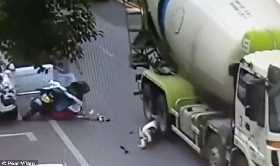 Σοκαριστικό βίντεο : Μπετονιέρα λιώνει το κεφάλι γυναίκας κι όμως εκείνη ζει! - Κυρίως Φωτογραφία - Gallery - Video