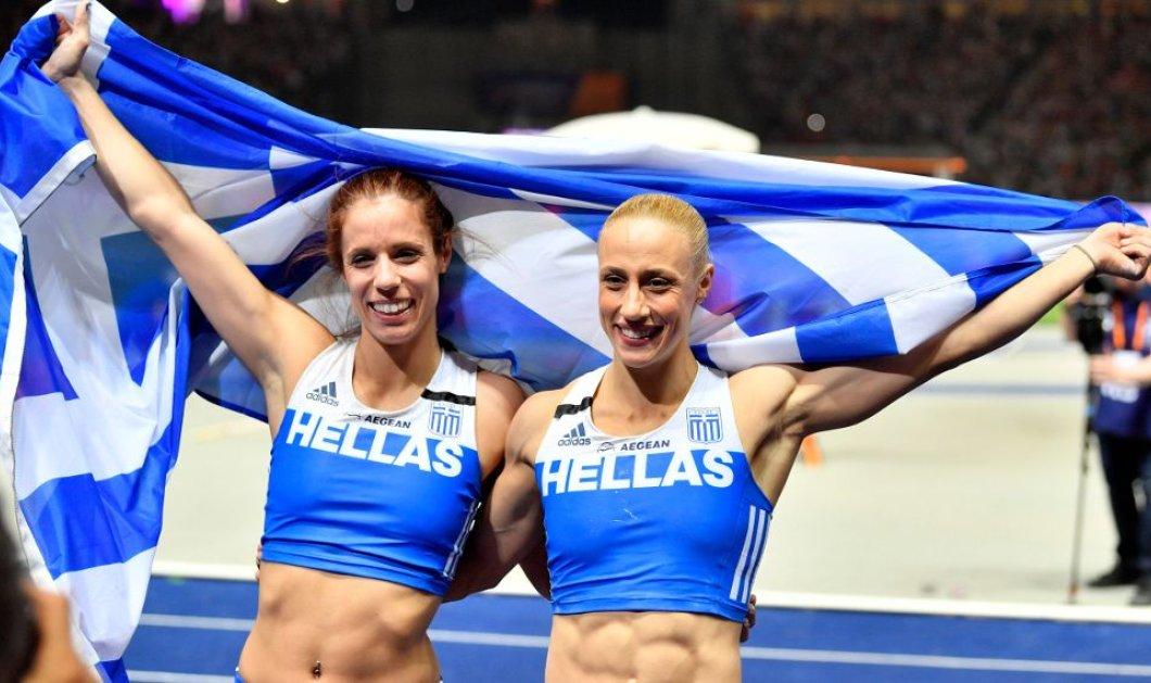 Ταβάνι τους μόνο ο ουρανός: «Χρυσή» η Στεφανίδη, «αργυρή» η Κυριακοπούλου στο Ευρωπαϊκό Πρωτάθλημα - Ιστορικό νταμπλ (Βίντεο) - Κυρίως Φωτογραφία - Gallery - Video