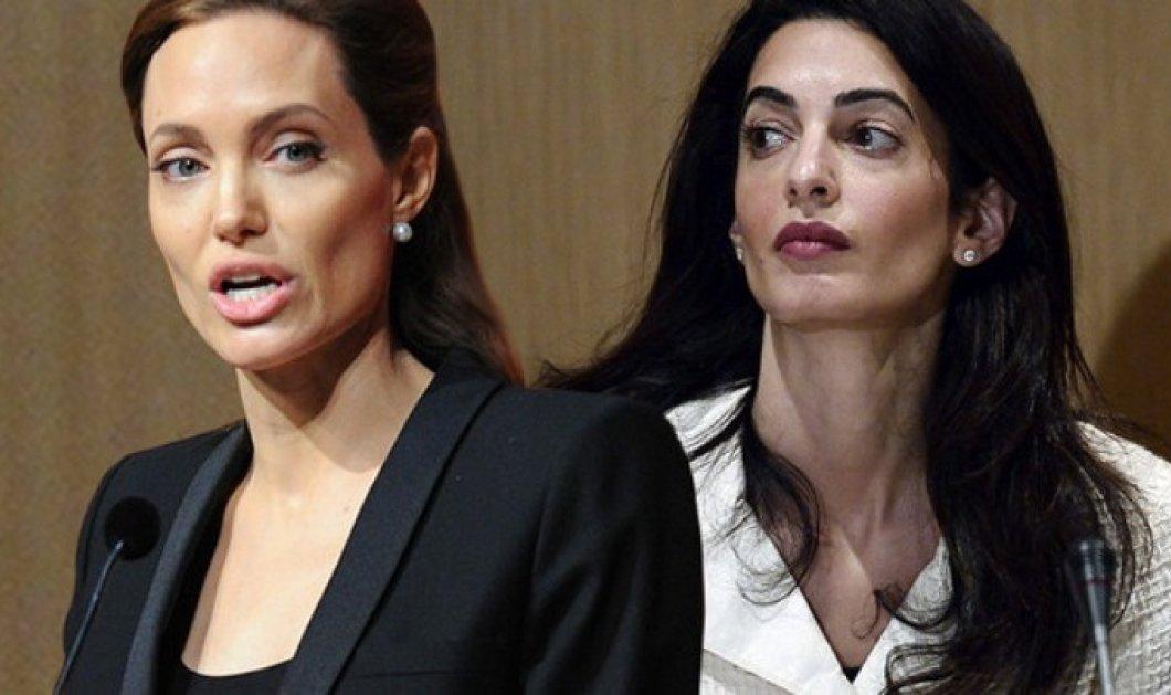 Η Αντζελίνα Τζολί ζηλεύει την Αμάλ Κλούνεϊ  - Κυρίως Φωτογραφία - Gallery - Video